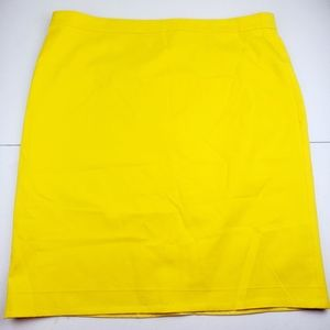 J. CREW No. 2 Neon Yellow Pencil Skirt Stretch